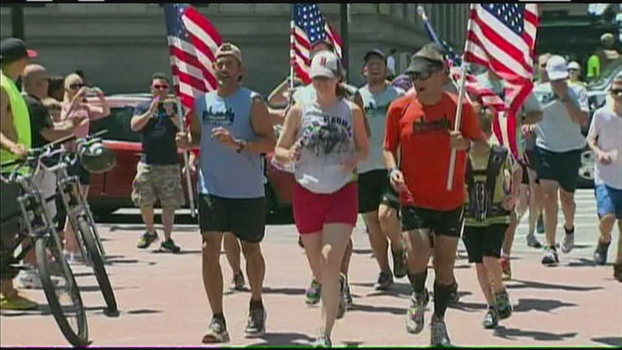 Ultra-athletes complete 450-mile trek for victims of marathon bombings
