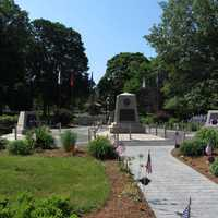 The town common has memorials honoring its local residents who either fought or died in all of the nation's wars.