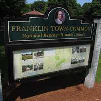 The Franklin Common Historic District includes 74 historical buildings, with the oldest dating to 1780.
