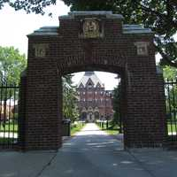 Dean College was founded by Dr. Oliver Dean as a co-educational academy in 1865.