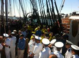 It's the first scheduled voyage of 2013 for the 215-year-old Constitution.