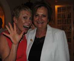 Barbara Corcoran and Pat Villani, president of Coldwell Banker Residential Brokerage