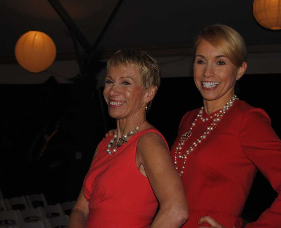 Barbara Corcoran and Jill Boudreau, a top-producing agent in Wellesley who hosted the reception.