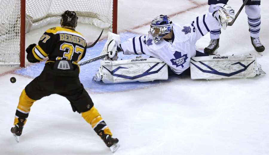 You'll remember Bergeron scored two goals in Game 7 against the Toronto Maple Leafs, including the game winner. He's a huge reason why the Bruins are now in the Stanley Cup finals.