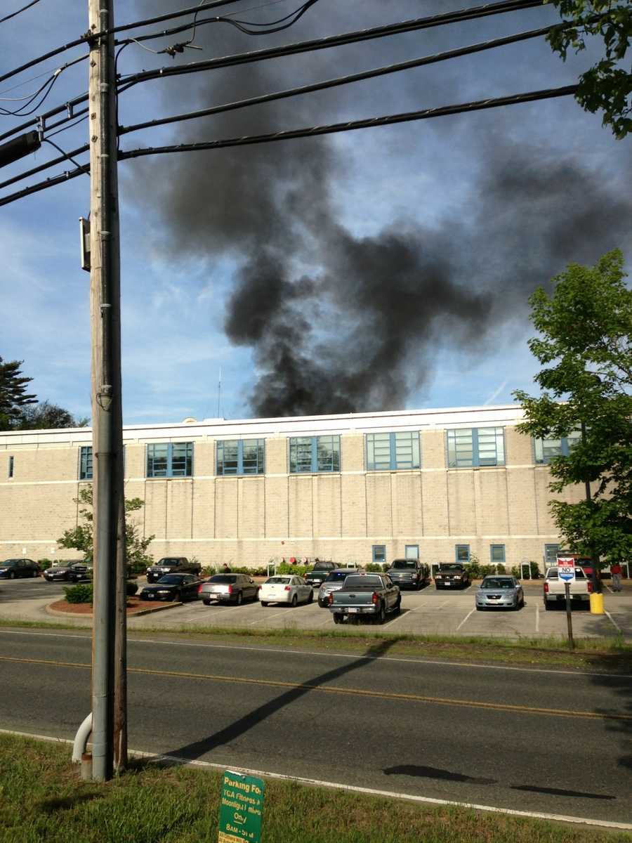 A fire broke out at the Post Office annex in Brockton.