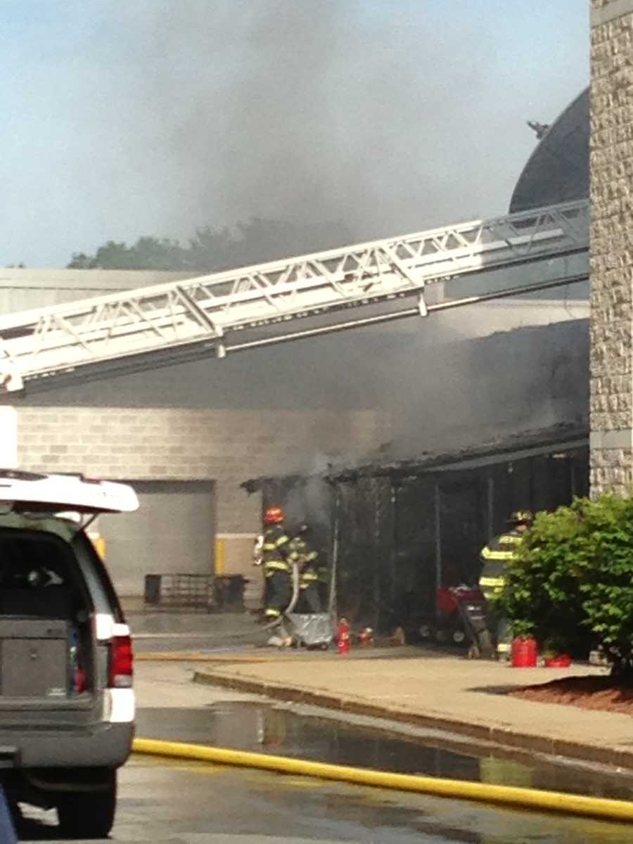 Firefighters from West Bridgewater were called in to help Brockton crews.