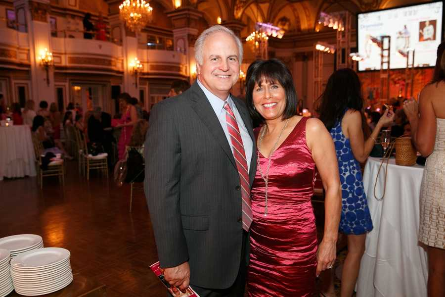 WCVB-TV President Bill Fine and his wife, Gail Fine of the Ellie Fund.