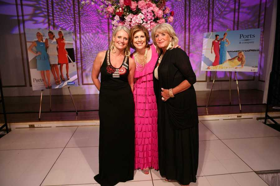 Lisa Lynch of the Ports & Company with Kelley Tuthill and Susan Wornick.
