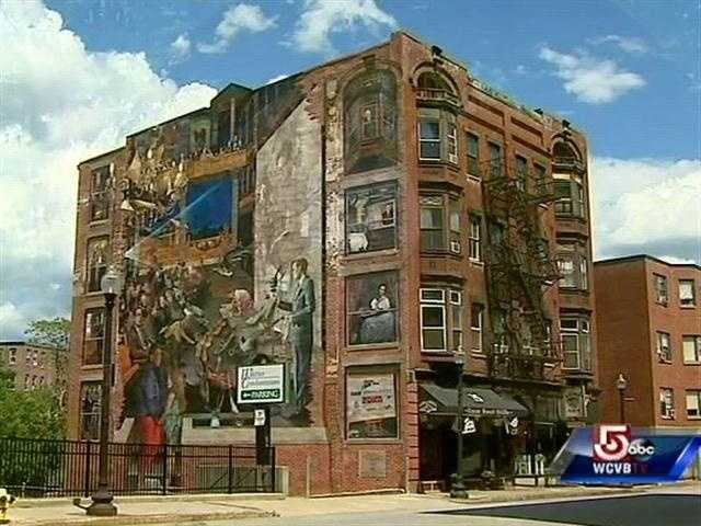 This massive mural is in the heart of Haverhill's restaurant and Arts District.