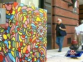 Utility boxes brighten Boston streets through a program called PaintBox.