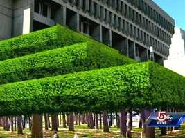 Imagine Boston City Hall with green space.