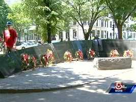 This memorial, a tribute to lives lost in the 1972 Hotel Vendome fire, inspired a book.