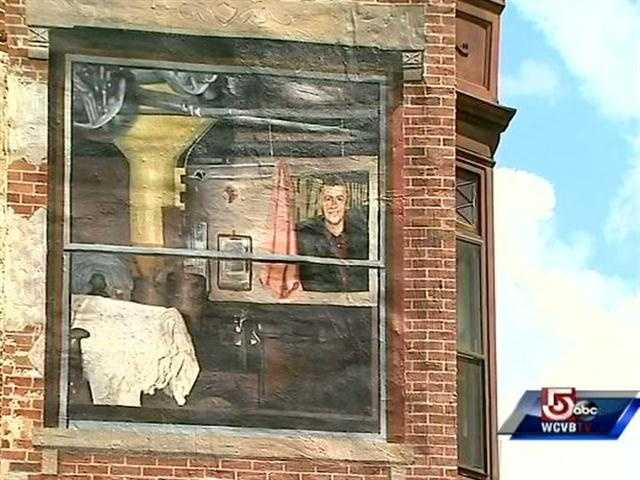 The mural, showcasing Haverhill's heritage, blends local lore with familiar faces, including Tom Bergeron.