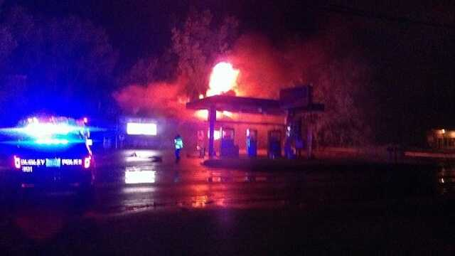 Dudley Gas Station Fire 060813