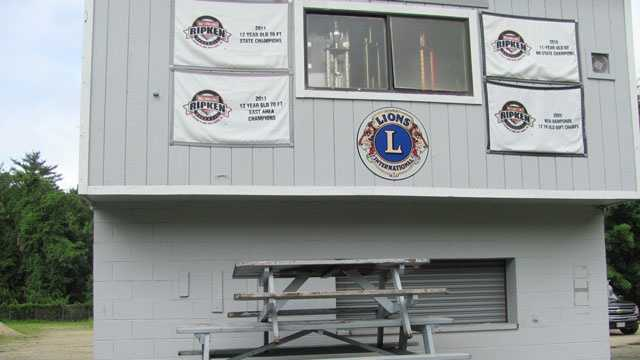 Police said thieves stacked up picnic benches to get into the concession stand at Lions Field on Saturday, June 8, 2013.