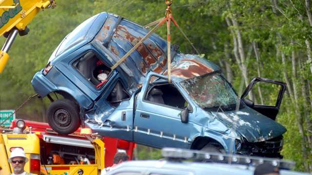 One person was killed when a minivan rolled over in Mattapoisett on Sunday, June 9, 2013.