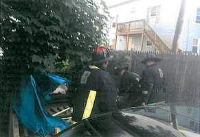 Officials said they found a makeshift sleeping quarter at El Auto Repair that had a tarp, box spring and mattress