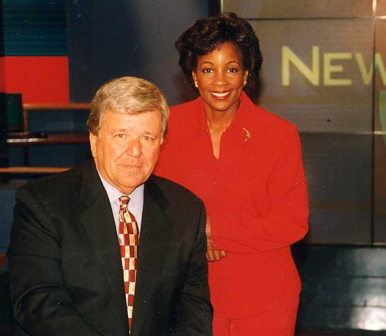 Chet with NewsCenter 5 anchor Pam Cross