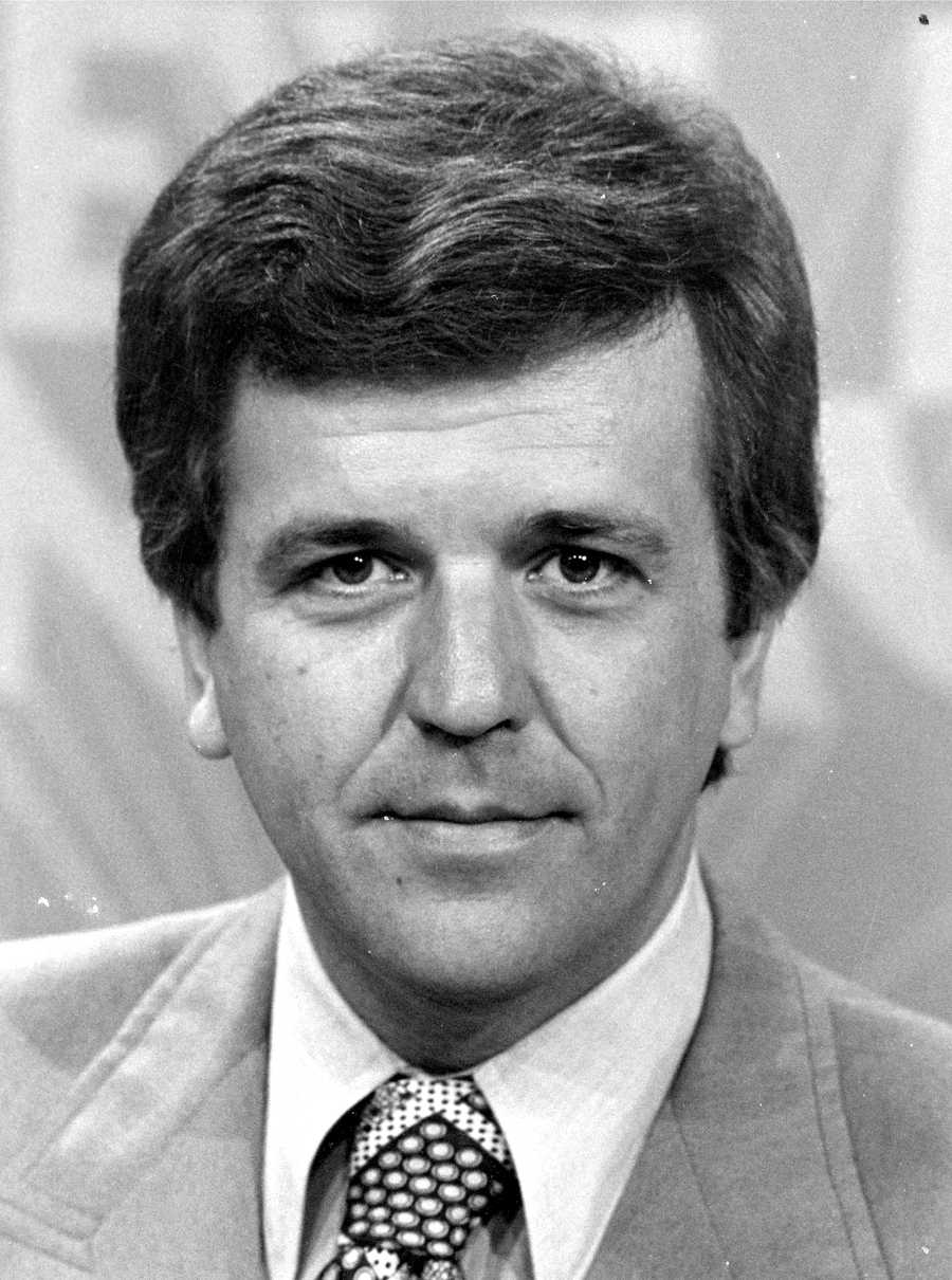 An undated photo early in Chet's career at WCVB-TV
