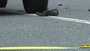 A pedestrian was struck and killed by a car on Route 16 in Mendon on Wednesday afternoon.