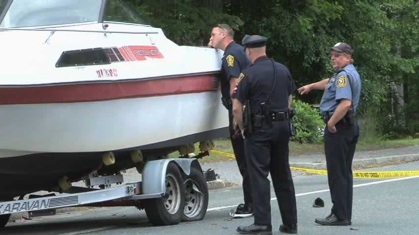 The victim had pulled over along the side of the road to adjust a boat his vehicle was towing, officials said.