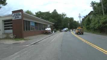 The crash happened shortly after 2:300 p.m. in front of Nipmuc Marine & Auto, according to Wicked Local.