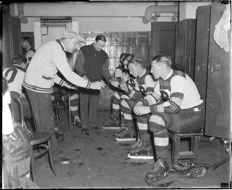 The visitors locker room at the Garden was notoriously small, hot, and underserved by plumbing.