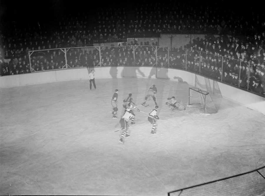 The smaller ice surface allowed the Bruins the opportunity to dump the puck in the offensive zone and then crush their opponents with checks along the boards.