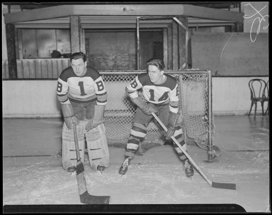 """Adding to the """"home-ice"""" advantage: the Garden's hockey rink was much smaller than most other rinks At 191 ft. long by 83 ft. wide, it was some nine feet shorter and two feet narrower than standard rinks."""