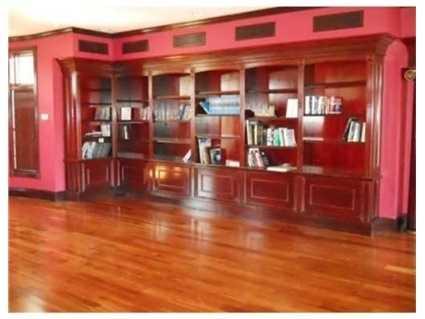 Custom book shelves.