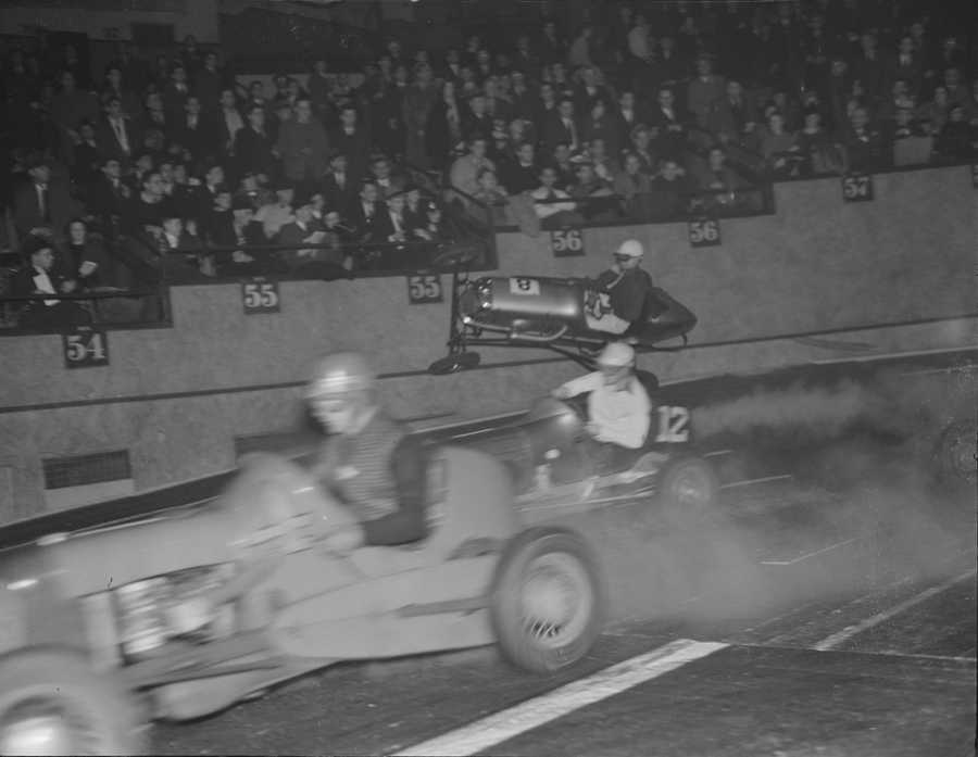 The building even hosted dirt racing