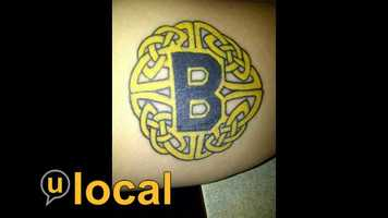 "Bruins fans from Canada  I recently got some ""black and yellow"" ink done - my son and I are huge Bruins fans and we are from Canada."