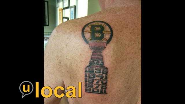 My Bruins 2011 Tattoo. The Bruins logo on top off the cup with the 6 years that they won filled in. 1929, 1939, 1941, 1970, 1972, 2011