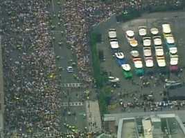 Over a million fans turned out for the victory parade, which began at the former site of the original Boston Garden.