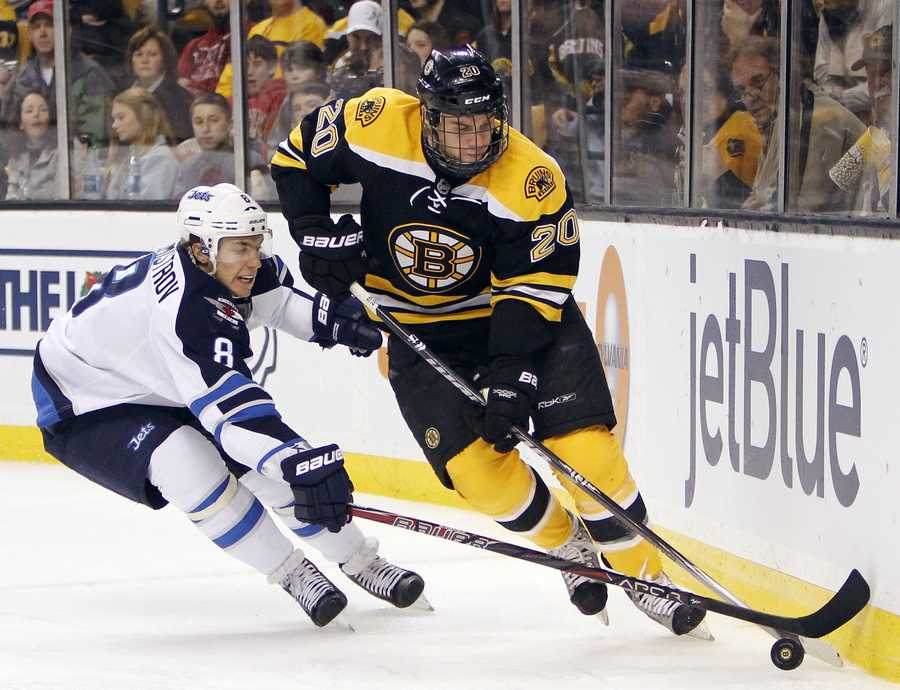 Danielle Paille plays left wing for the Bruins.He was drafted 20th overall by the Buffalo Sabres.