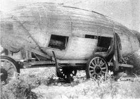 In the 1920's a wooden submarine was placed at Hampton Beach. Built by Thomas Buckley, the 30-foot-long craft was never installed with a motor, so it remained on shore until Buckley died and it fell apart (Lane Memorial Library)