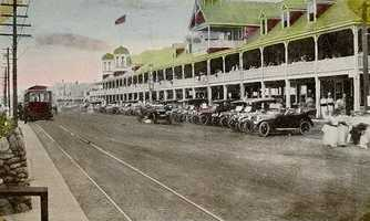 """The Hampton Beach Casino was built in 1899 to stimulate the local economy. The term """"casino"""" is Italian for summer house, so the two-story wood building was a destination for socializing, not gambling (Hampton Beach Casino Ballroom)"""