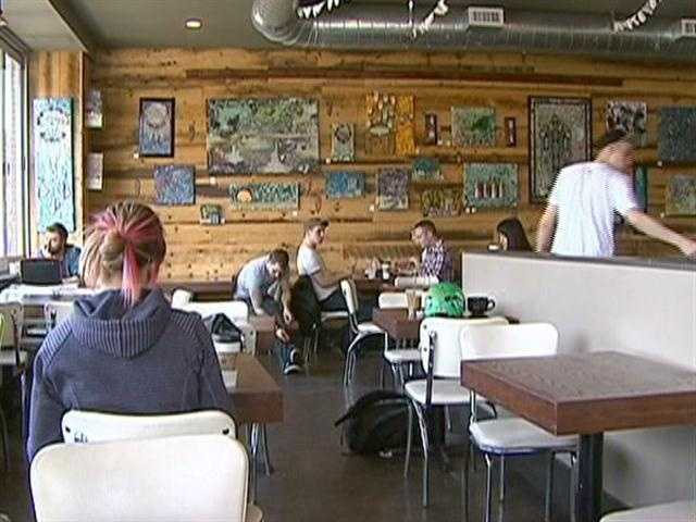 Refuse Cafe attracts young urbanites.
