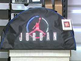 Mr. Kosow has been collecting Air Jordans and related Michael Jordan knicknacks for 30 years.