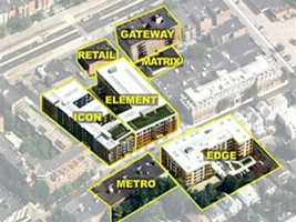 The project includes seven buildings, two city blocks, 500 units, and about 800 residents.
