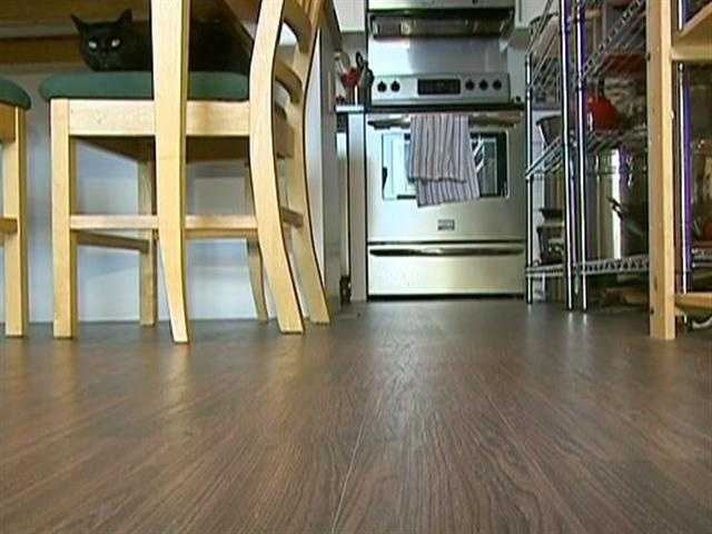 The recycled flooring is expected to last 50 years.