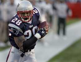 Running back Corey Dillon was a member of the Patriots winning Super Bowl team in 2005.