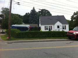 A bus crashed into a home in Auburn on Monday.
