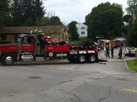 Emergency vehicles were sent to the scene.