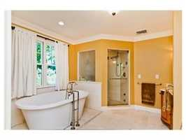 A large soaking tub.