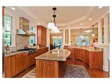 The gourmet kitchen.
