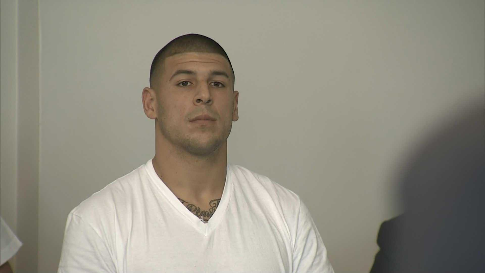 Former Patriots tight end Aaron Hernandez was arrested and charged with first-degree murder on June 26, 2013, in connection with the death of Odin Lloyd.