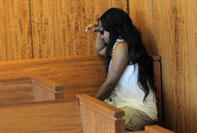 Aaron Hernandez's fiancee, Shayana Jenkins, wept after Judge Renee F. Dupuis denied Hernandez's request for bail.