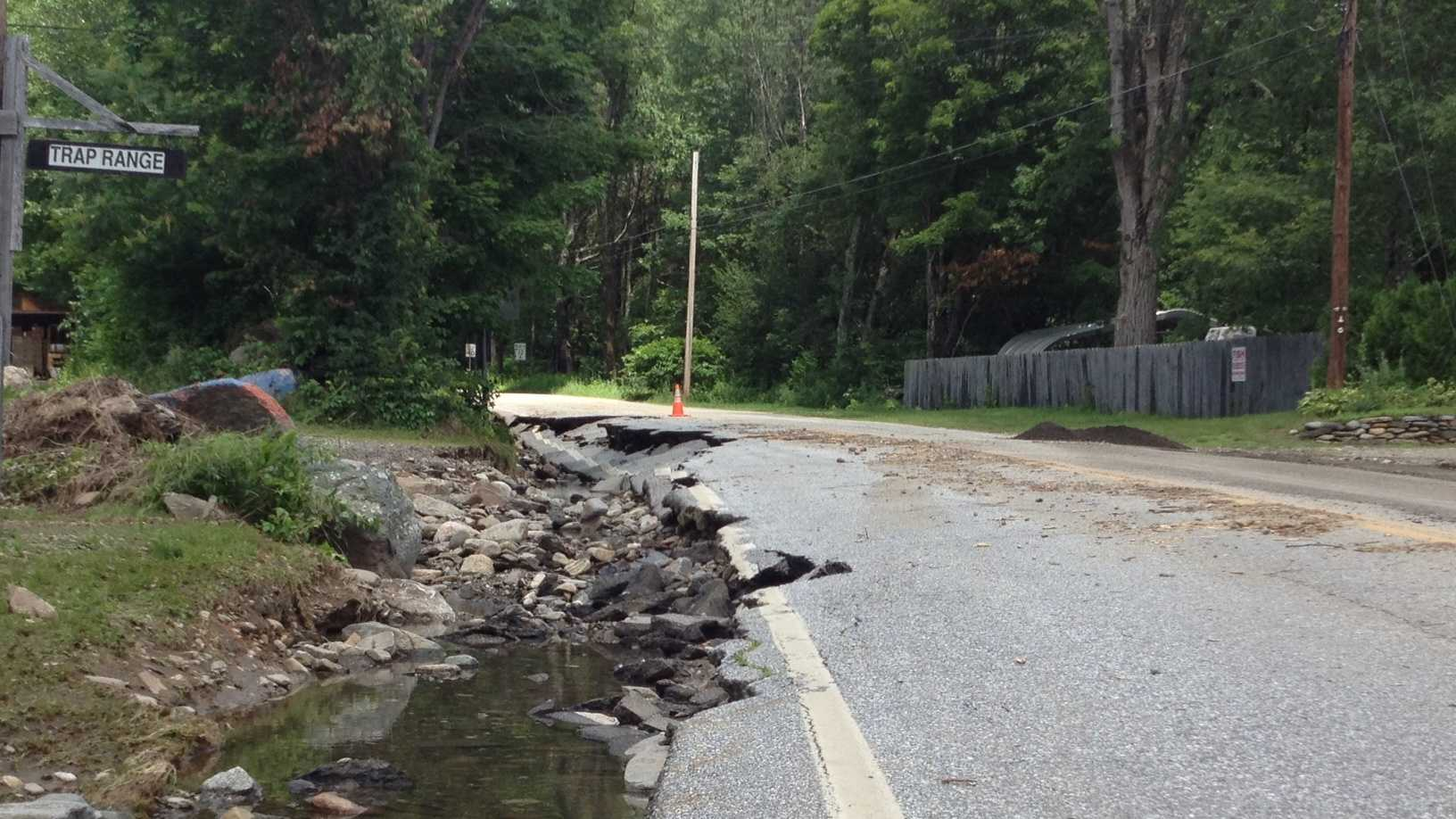 road washed out
