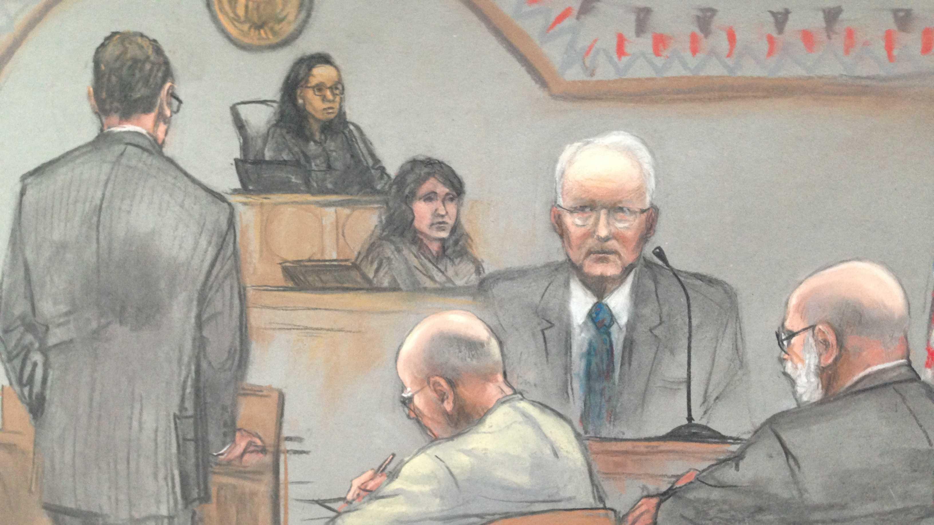 Bulger Sketch John Morris Testifies Bulger Watches 070113.JPG